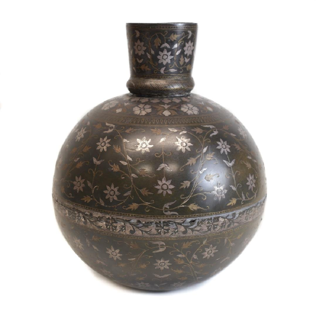 Indian Inlaid Bidri Vase - 2