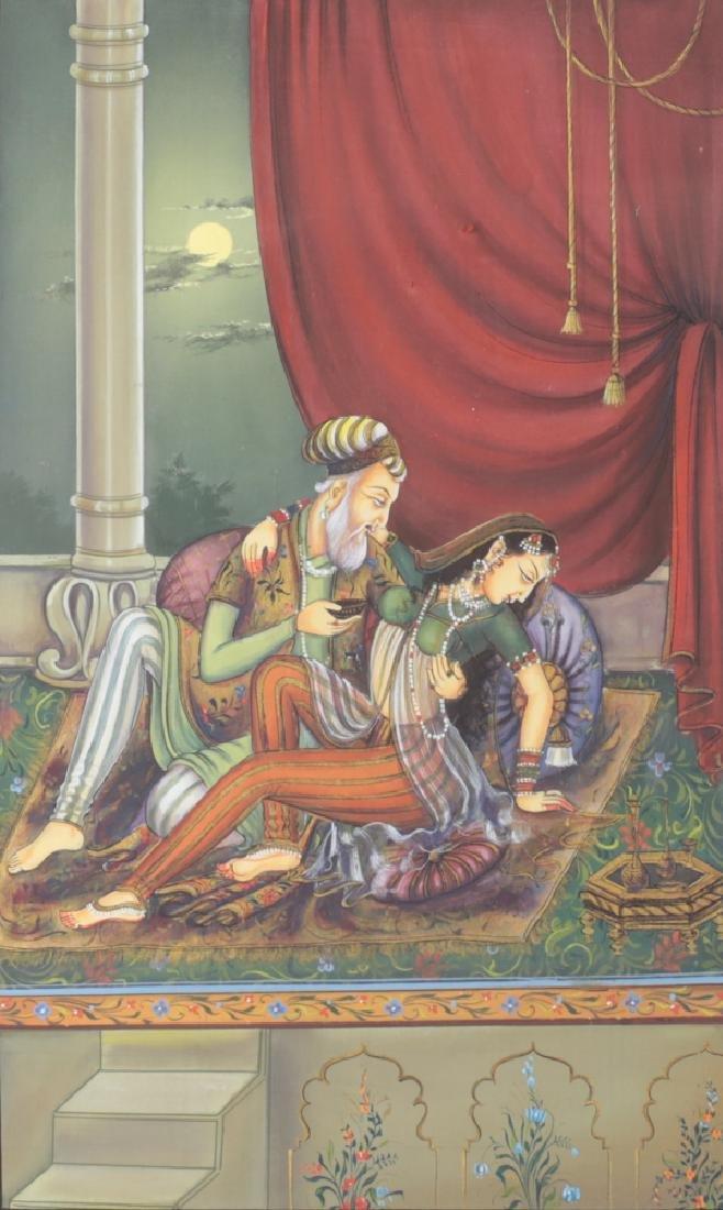 Indo-Persian Silk Painitng