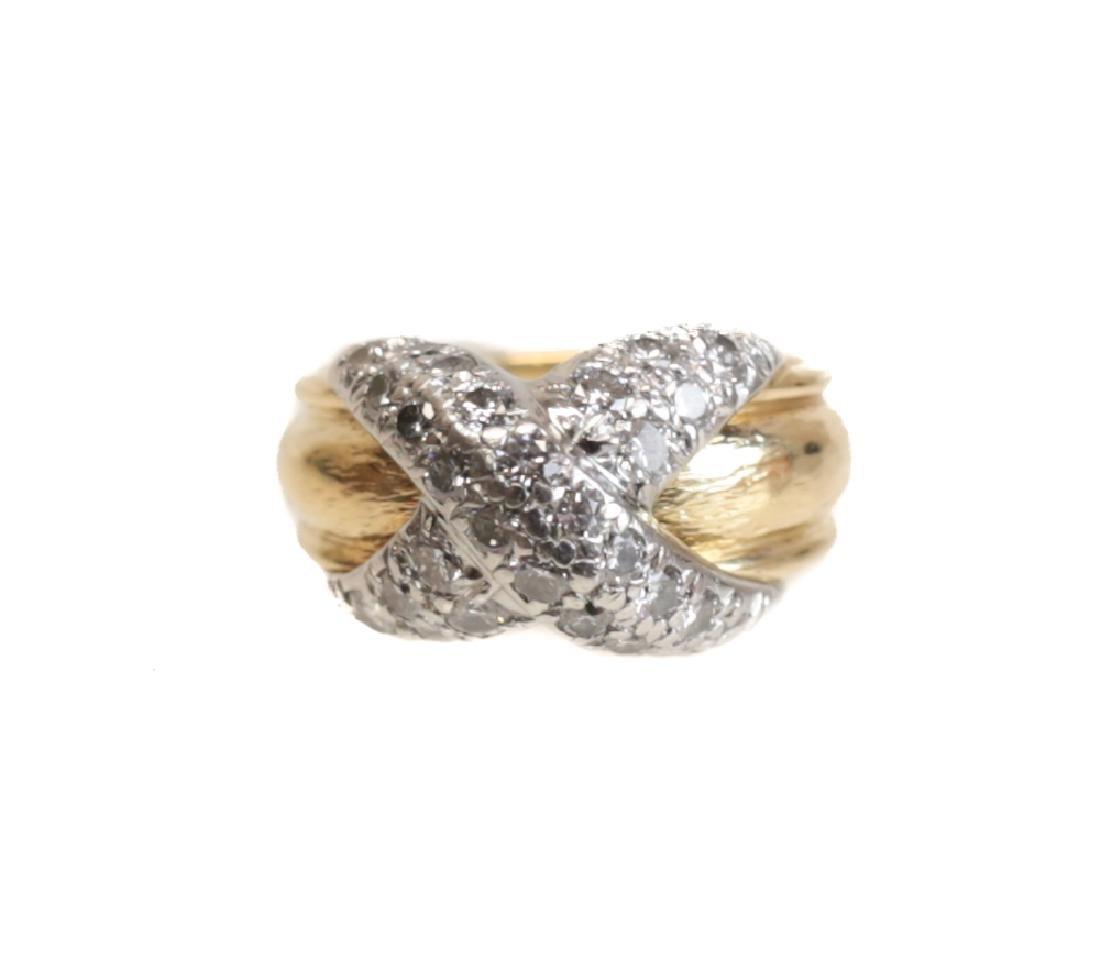 Schlumberger for Tiffany & Co 18k Gold & Diamond Ring