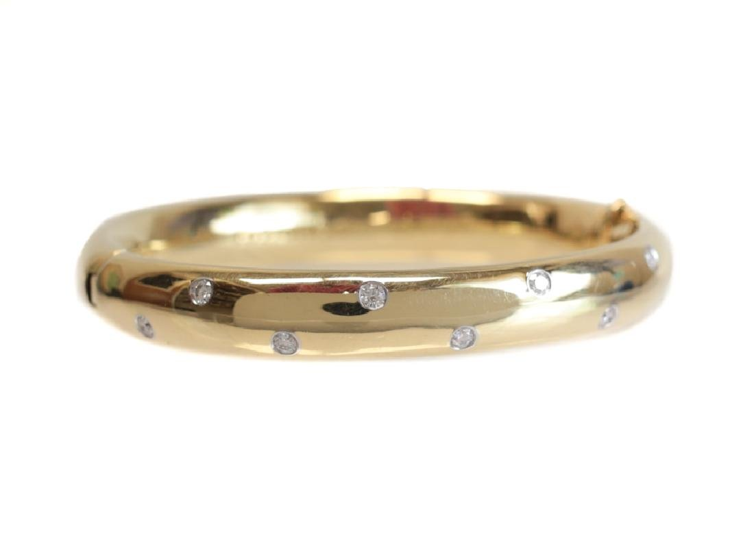 Tiffany & Co 18k platinum & Diamond Bangle Bracelet