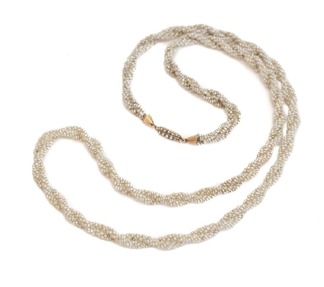 Victorian Seed Pearl Necklace - 2