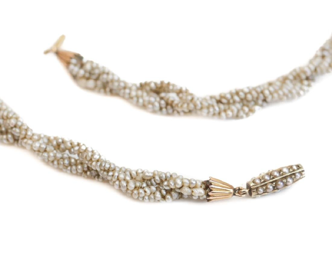 Victorian Seed Pearl Necklace - 3
