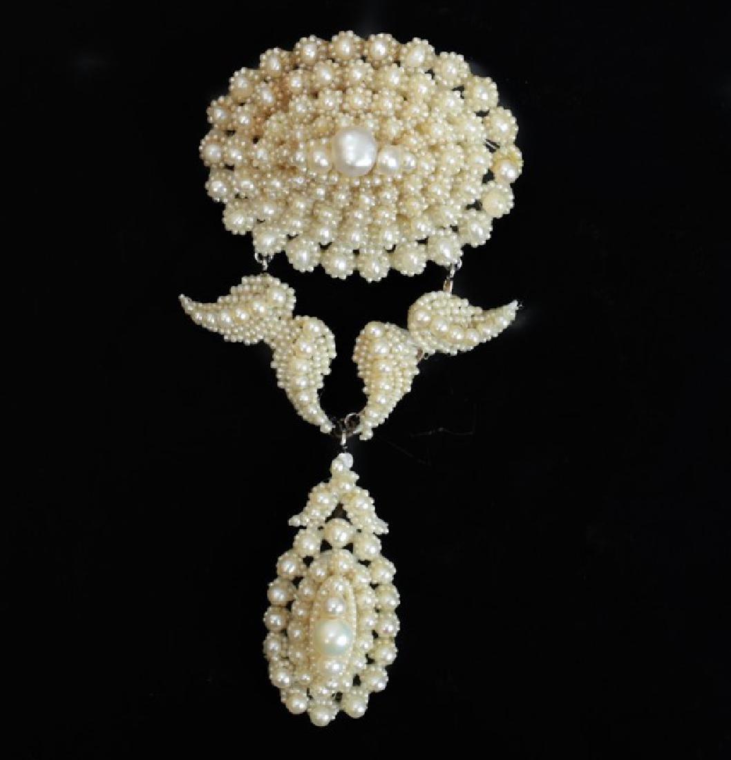 Victorian Seed Pearl Brooch