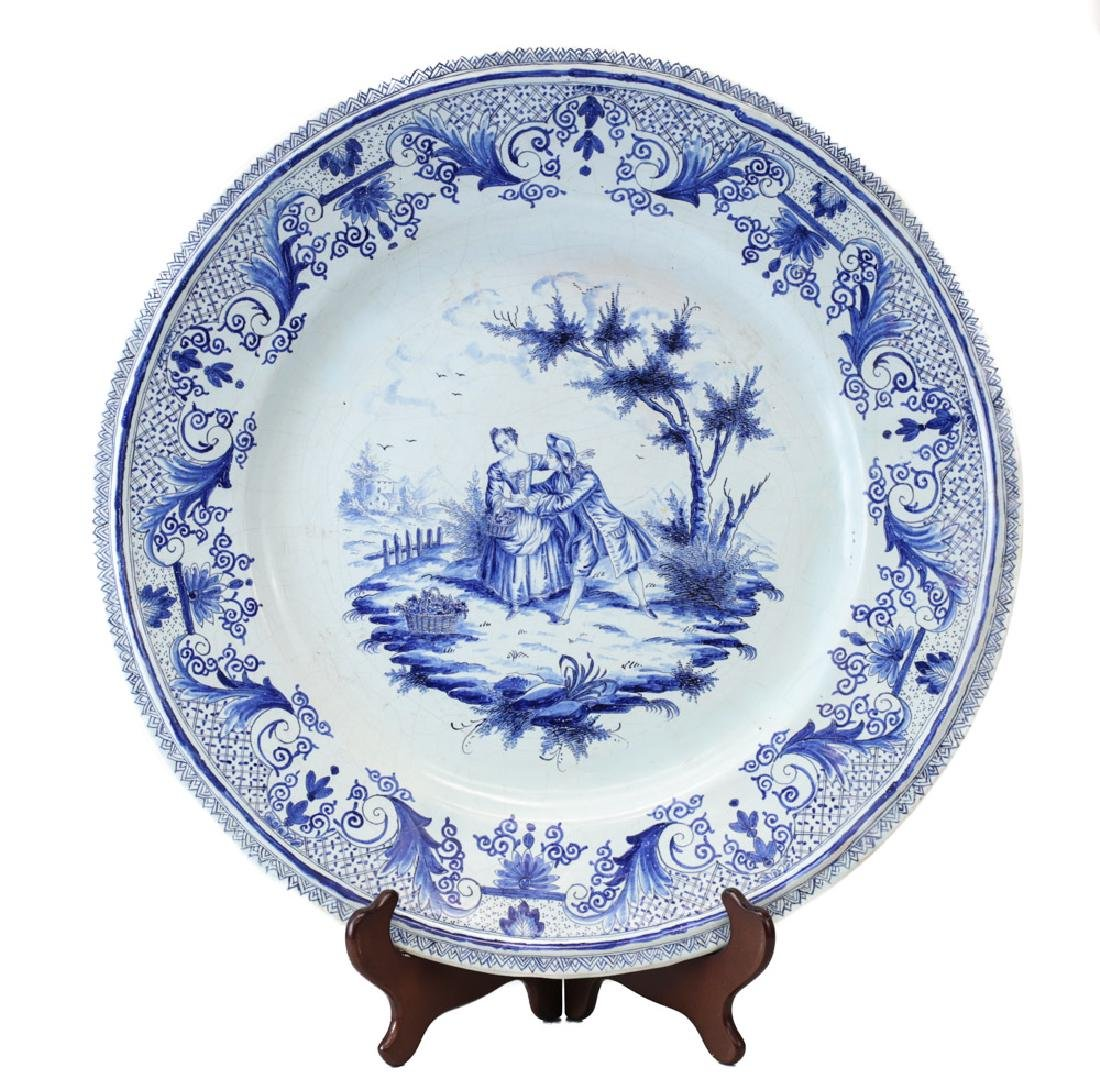 Delft Faience Earthenware Charger