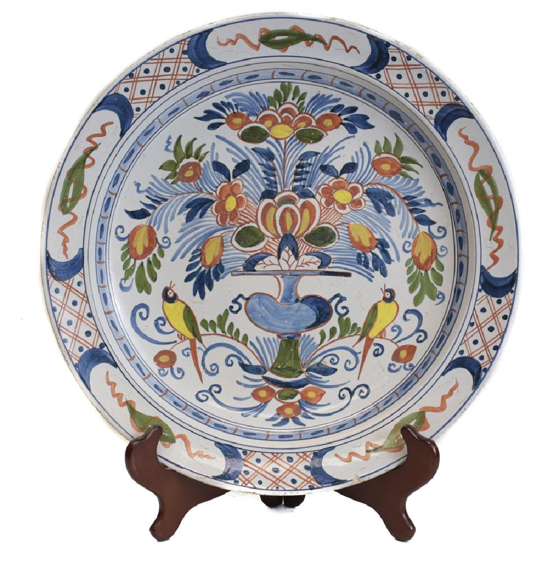 Continetal Faience Polychrome Charger