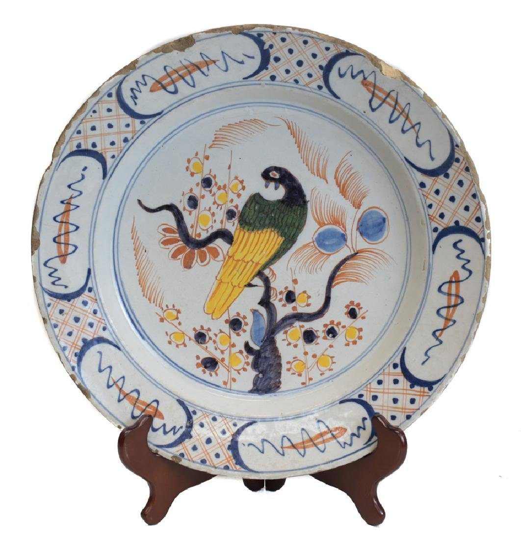 Faience Polychrome Charger
