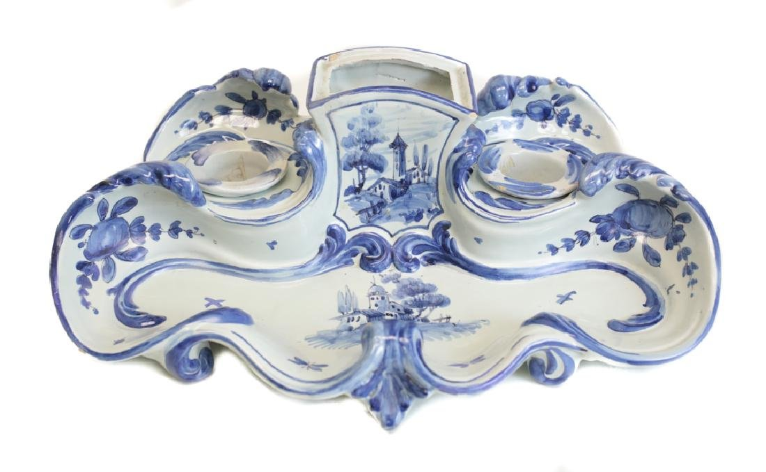 Delft Faience Inkpot Desk Set