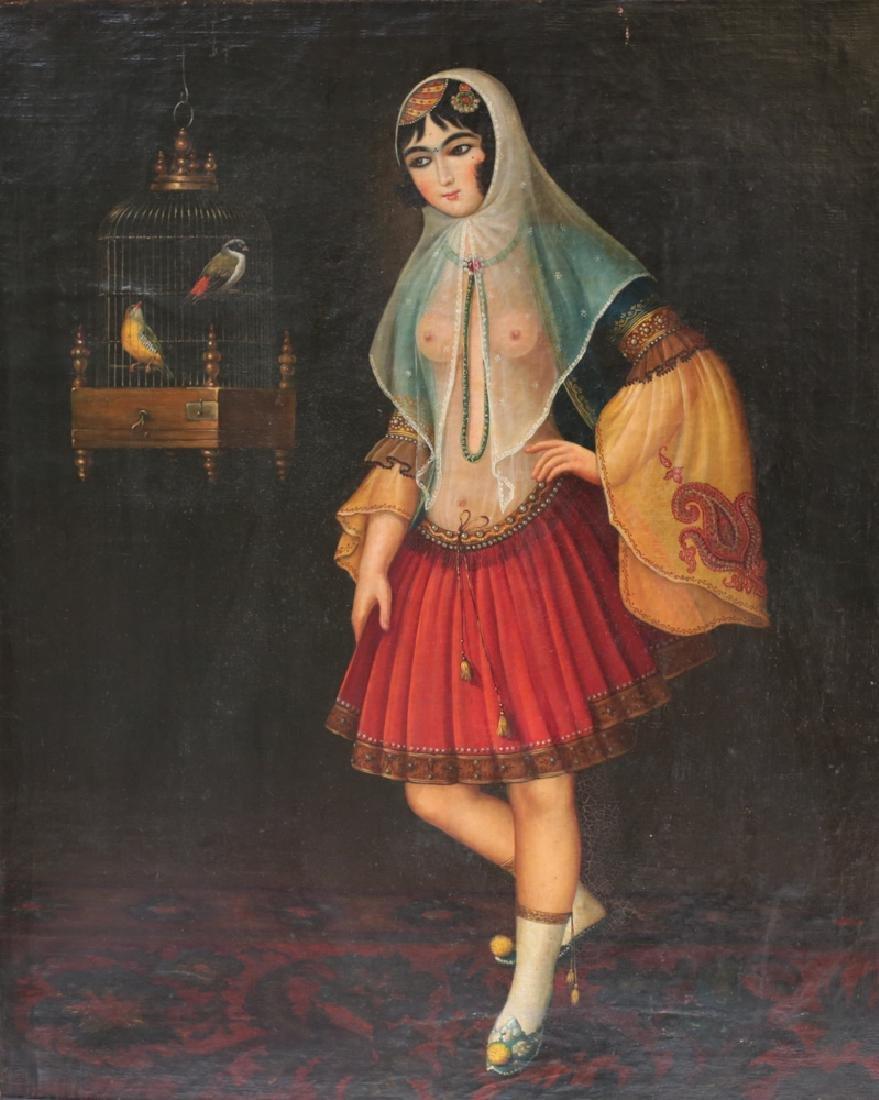 Persian Kajar Oil Painting
