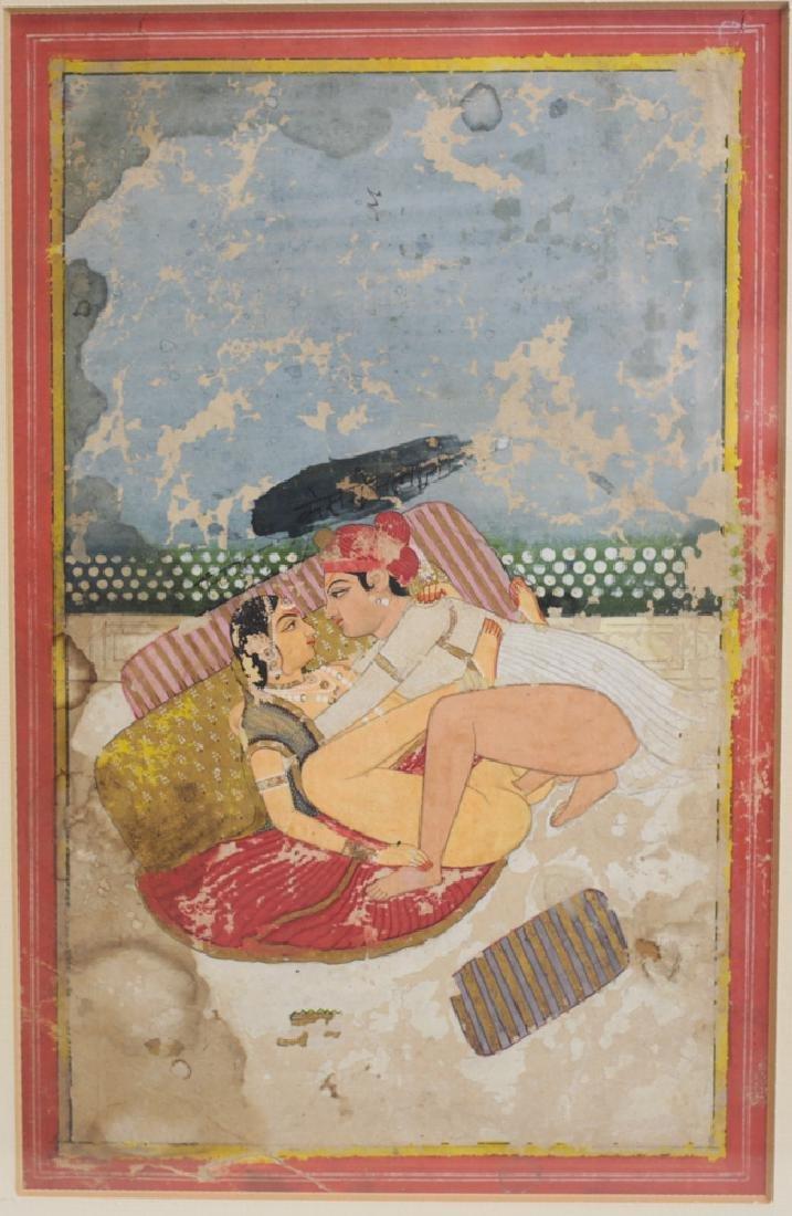 Erotic Indo Persian Gouche Painting