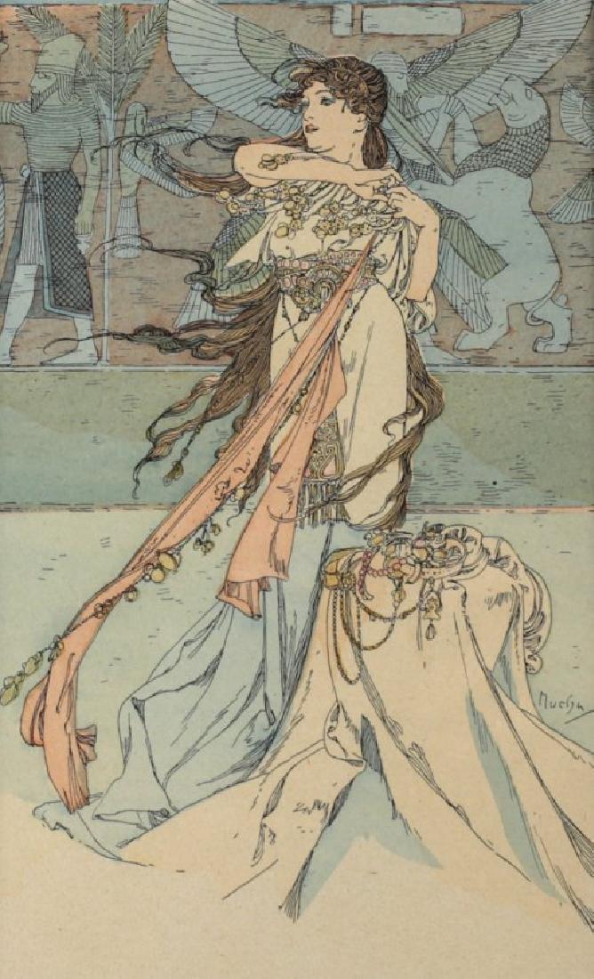 Alphonse Mucha (Czech, 1860-1939) Postcard