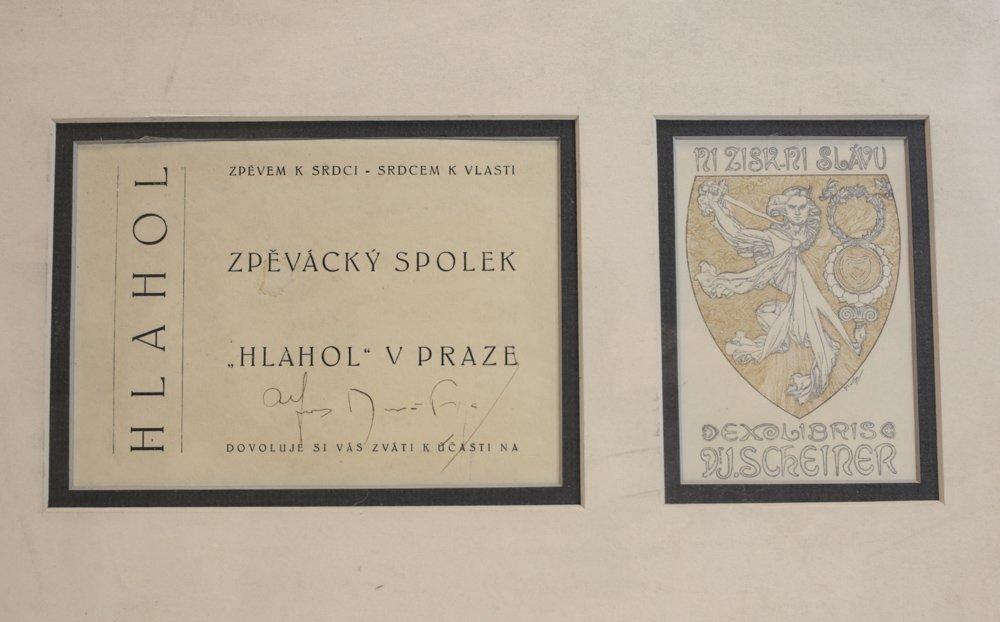 Alphonse Mucha (Czech, 1860-1939) Ex-Libris Bookplate