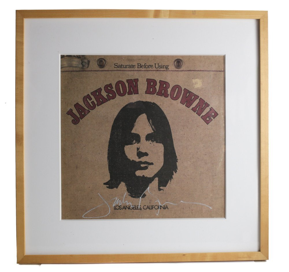 "Jackson Browne ""Saturate Before Using"" Signed"