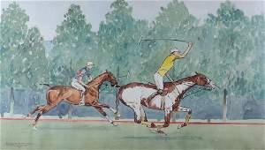 Paul Desmond Brown Watercolor & Gauche