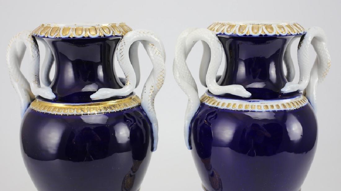 Pair Meissen Porcelain Urns - 2