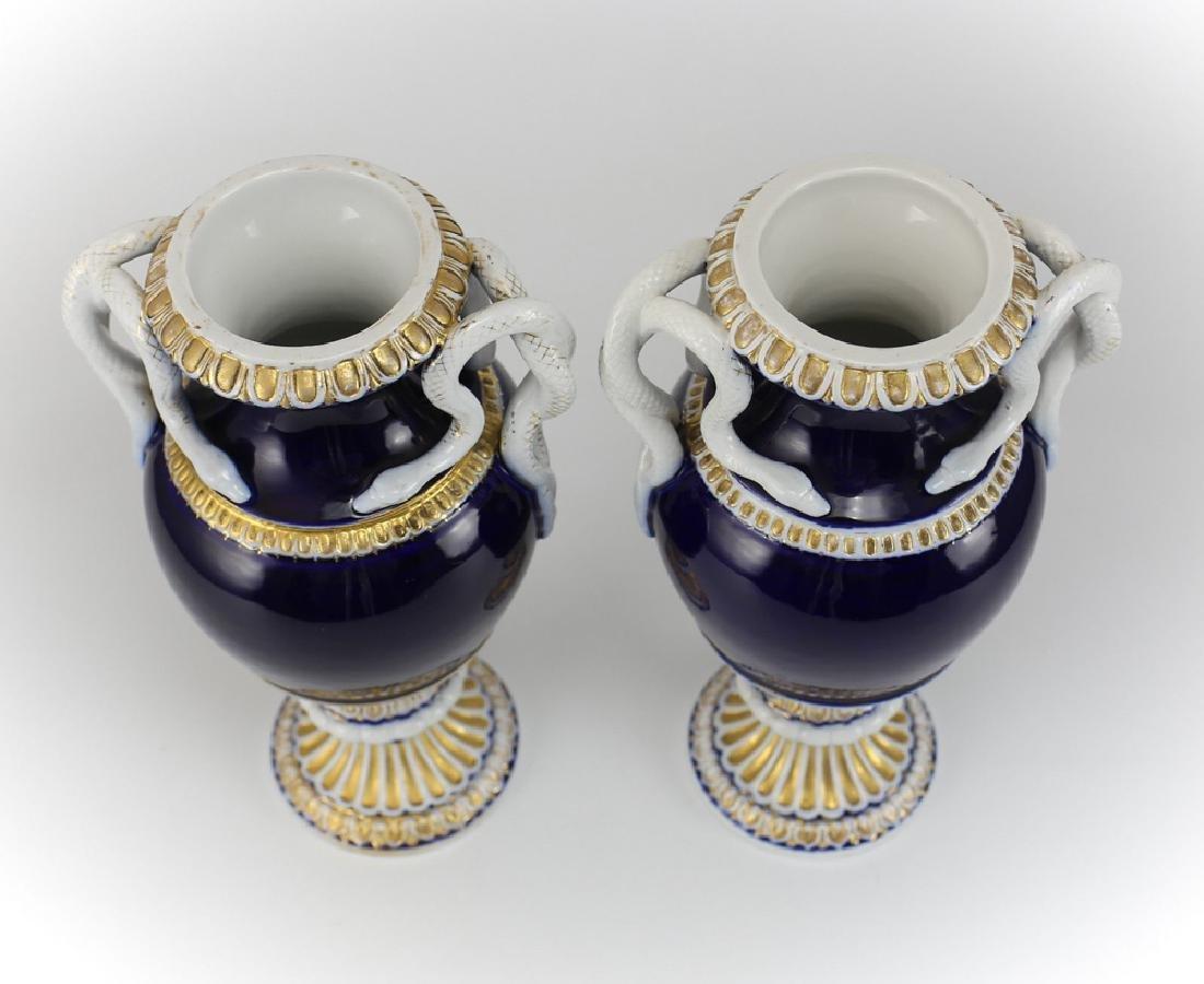 Pair Meissen Porcelain Urns - 3