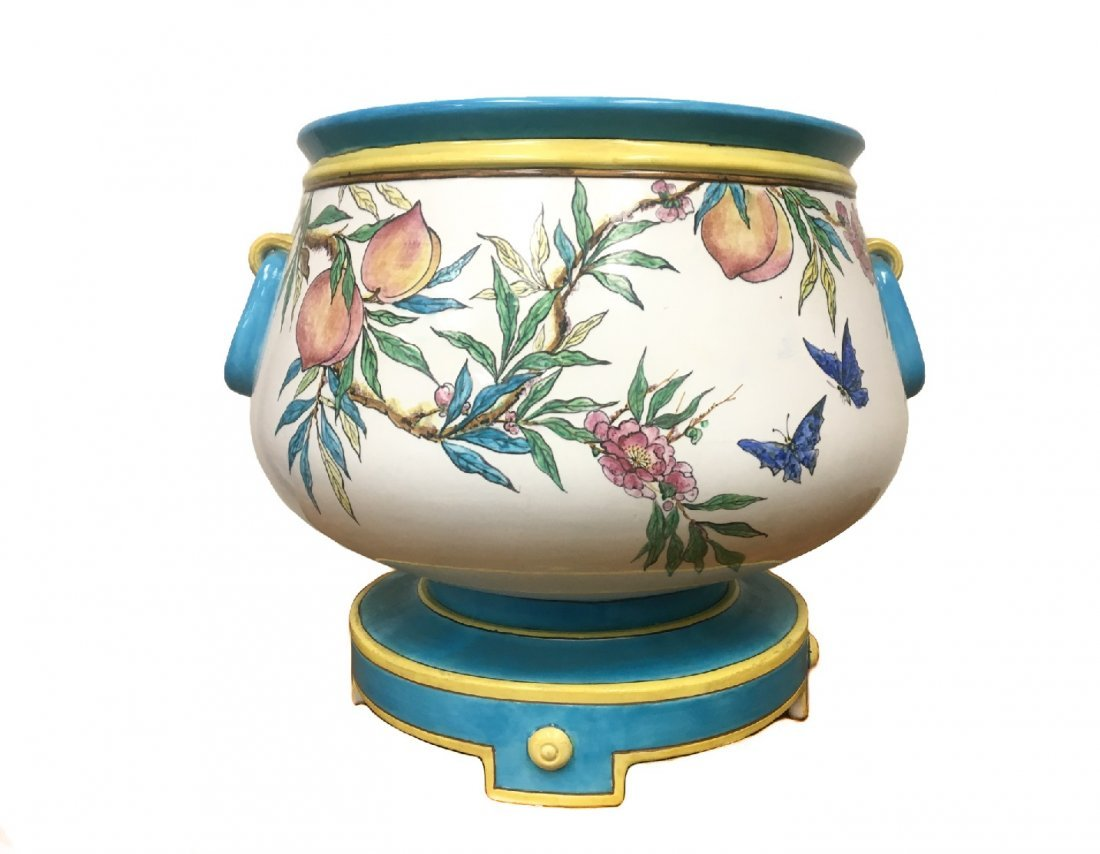 A Large Minton Planter on Stand