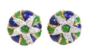Tiffany & Co for Schlumberger 18k Gold & Enamel