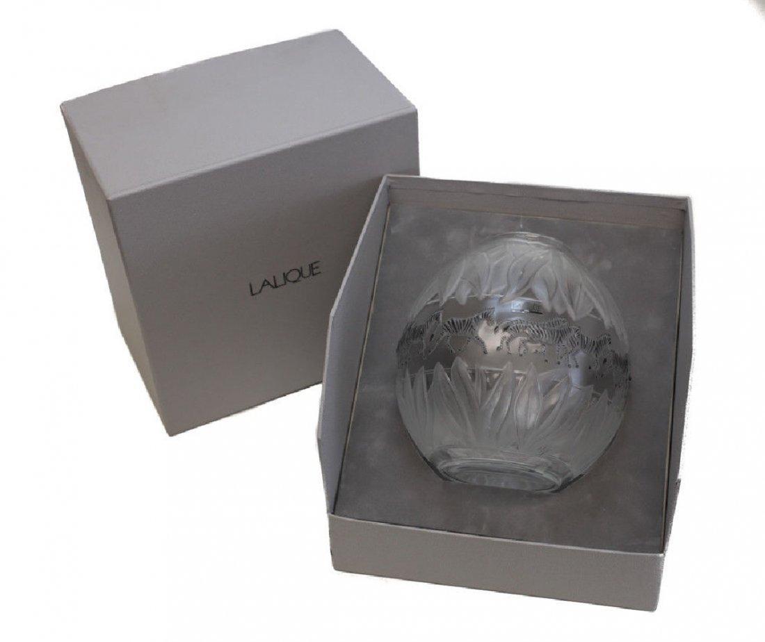 Lalique Crystal Vase Tanzania - 5