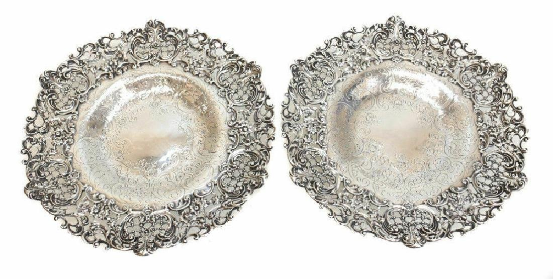 Pair Graff Washbourne Dunn Sterling Silver Dishes