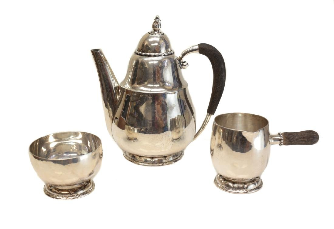 Georg Jensen Sterling Silver Chocolate Set