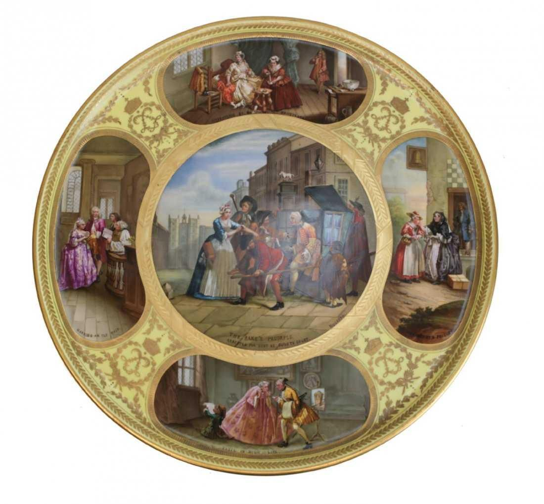 Large Sevres Porcelain Charger, 19th Century