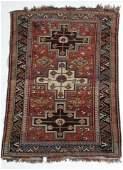 Antique Caucasian Rug, wool pile, geometric