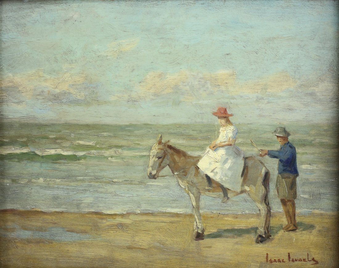 Isaac Israels (Dutch 1865-1934) Oil on board painting