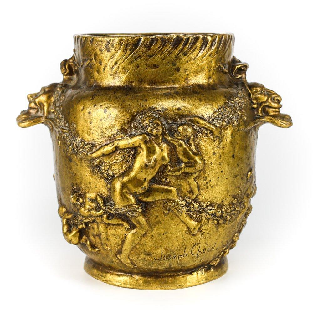 Joseph Gustave Cheret (1838 - 1894) Bronze Jardinere