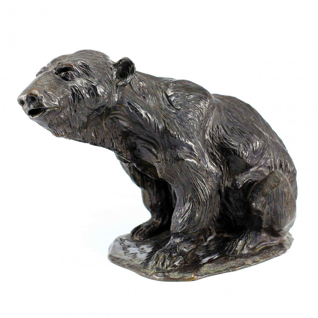 Jose Maria David (1944) Bronze Sculpture of Bear Ed./8