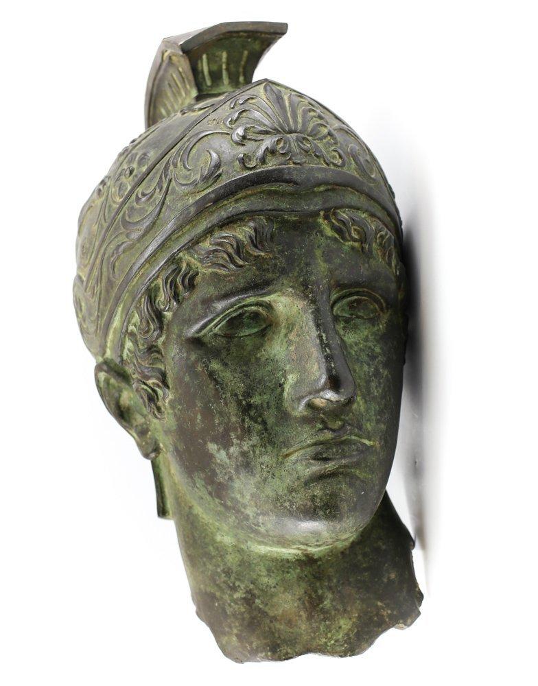 Life Size Roman Bronze Head of Soldier