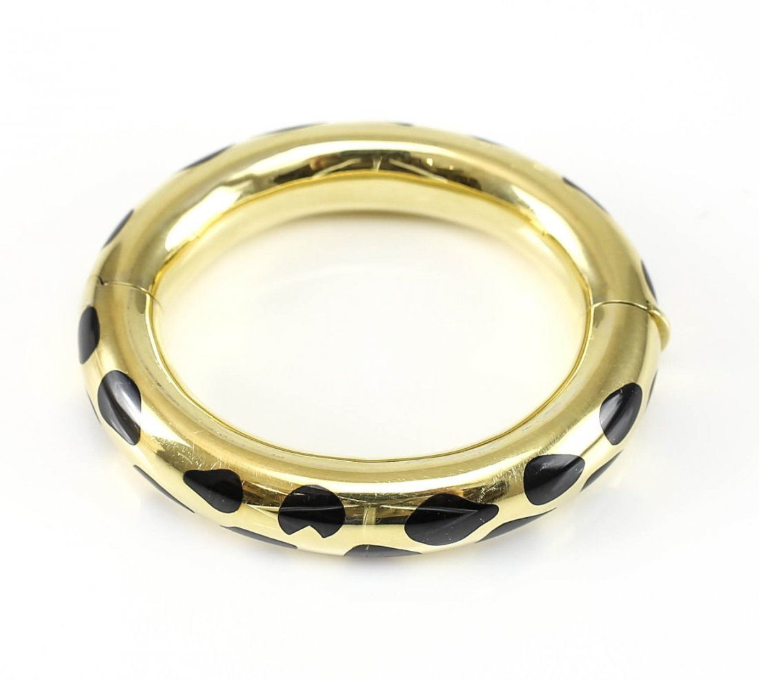 Angela Cummings Tiffany & Co Jade 18k Gold Bracelet