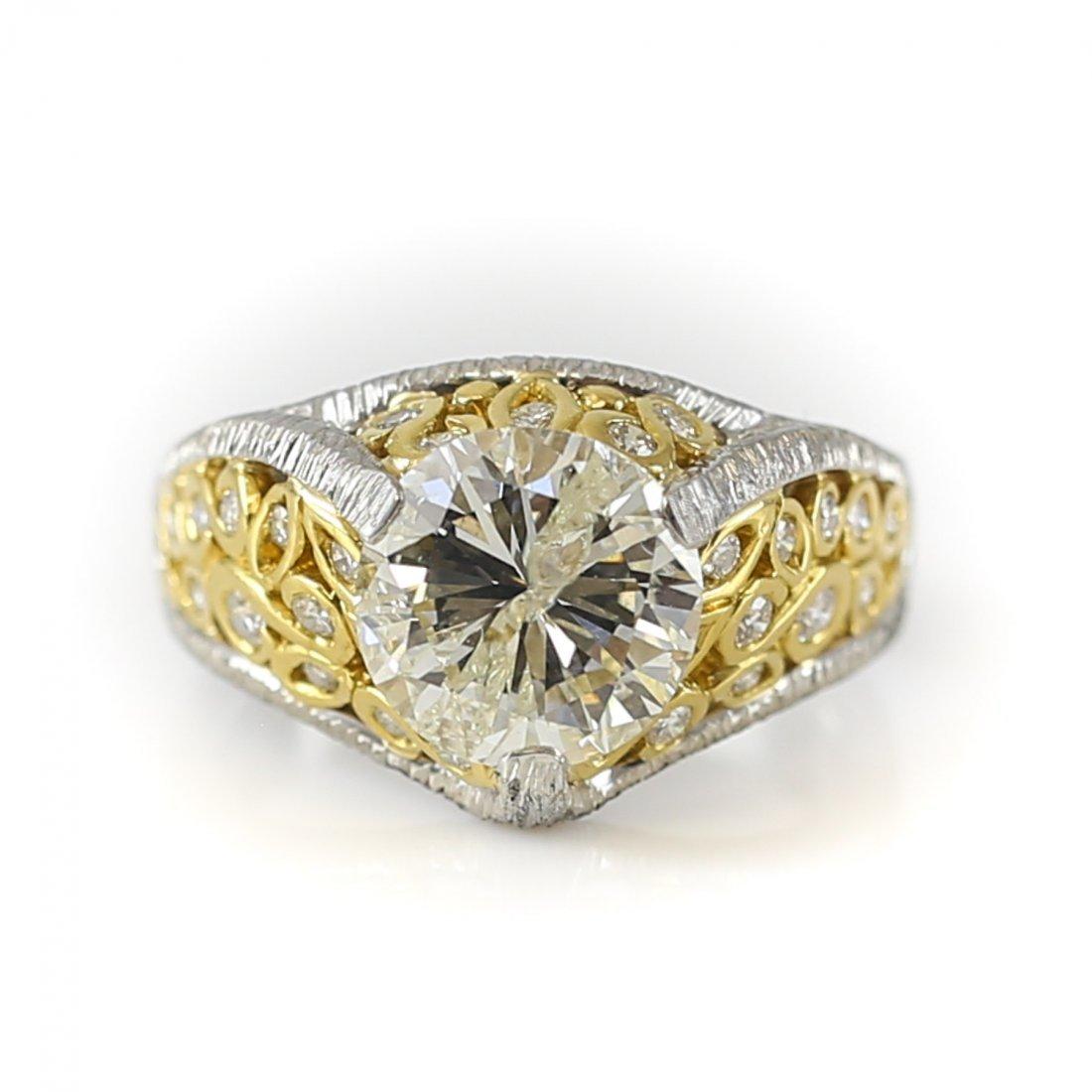 Mario Buccellati Platinum, 18k & Diamond  Ring 2.60ct