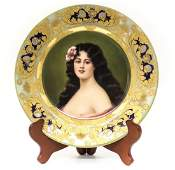 Royal Vienna Porcelain Portrait Cabinet Plate Signed