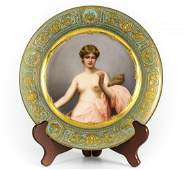 Royal Vienna Porcelain Portrait Cabinet Plate of Klotho