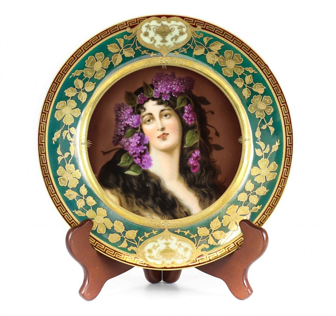Royal Vienna Porcelain Portrait Cabinet Plate of a