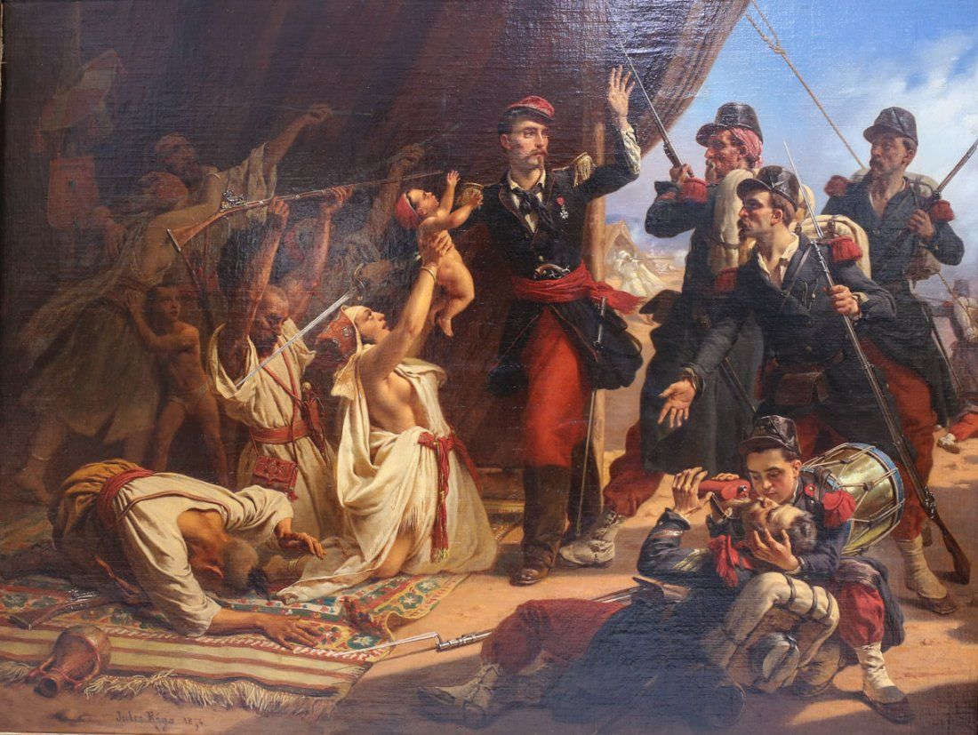 Jules Rigo (1810-1892) Oil on canvas Battle of Inkerman