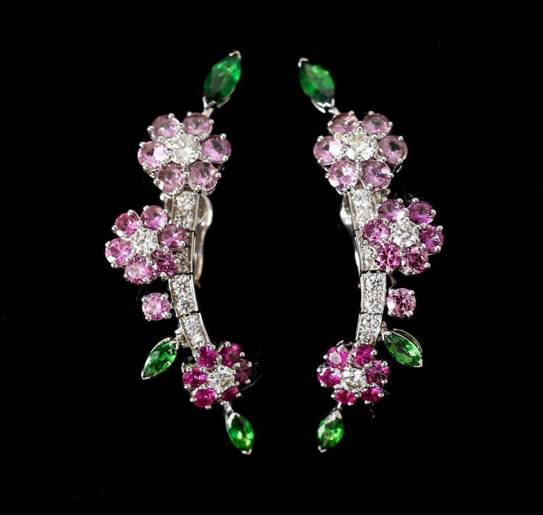 Van Cleef & Arpels Broderie 18k Gold Flower Earrings