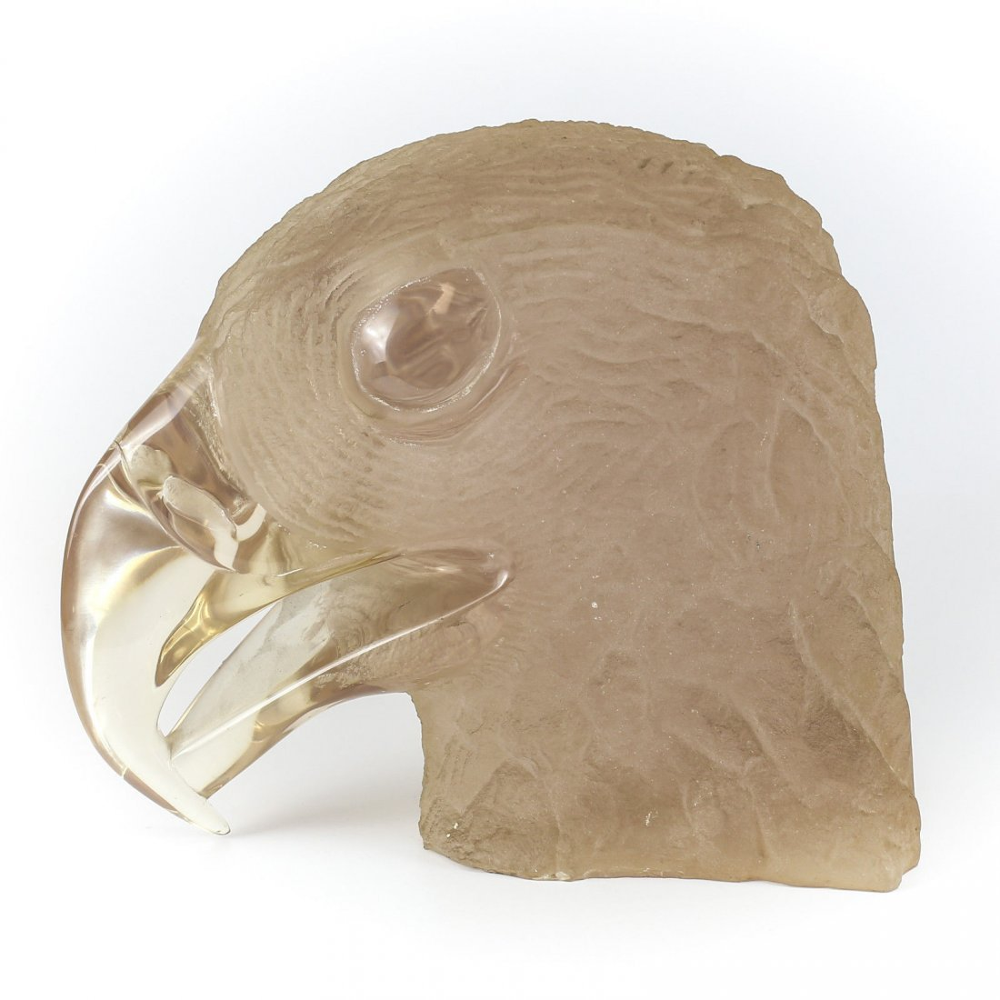 Large Lucite Acrylic Eagle Bust by London Signed #'d