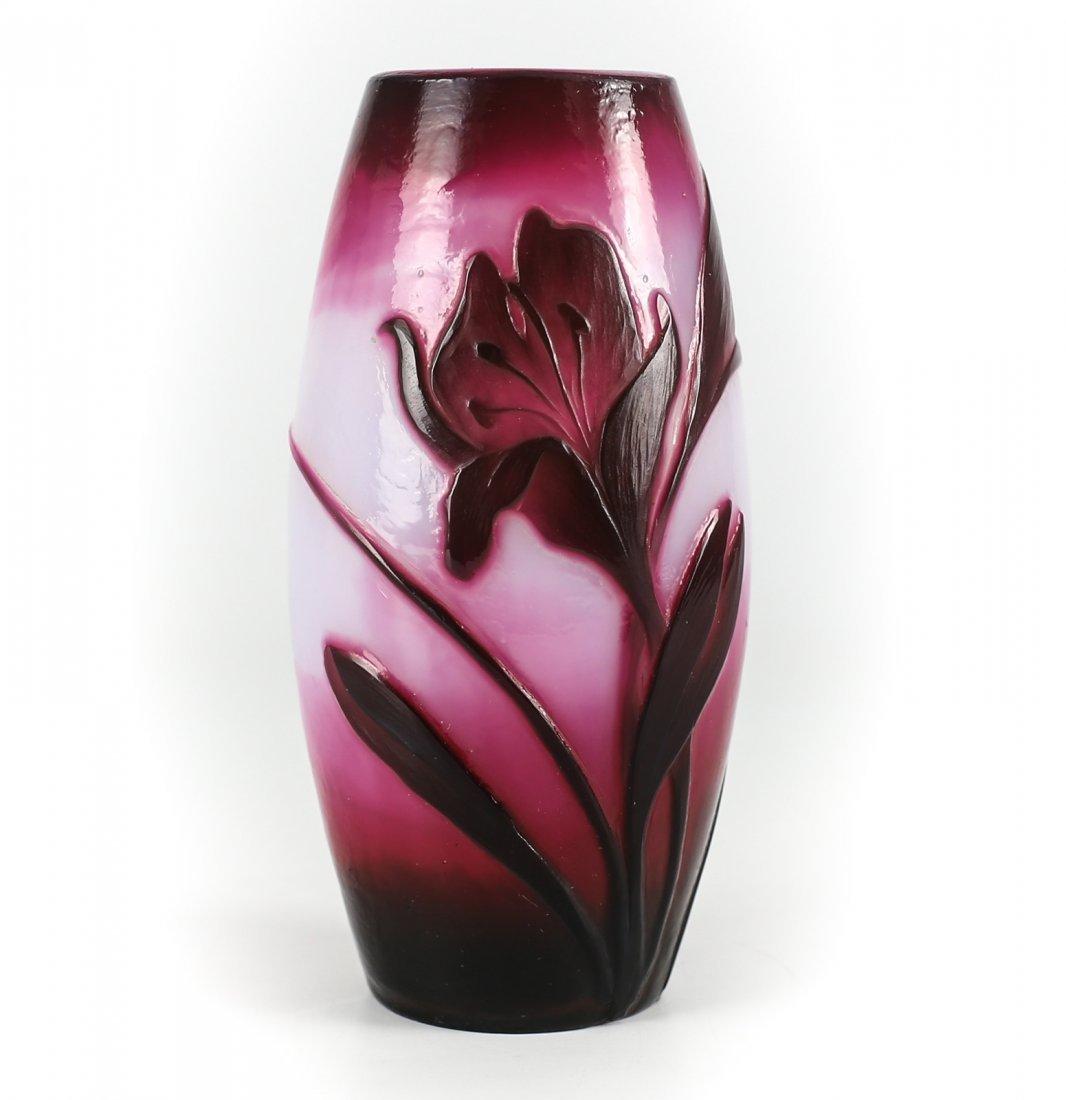 Fire Polished Muller Freres Croismare Vase