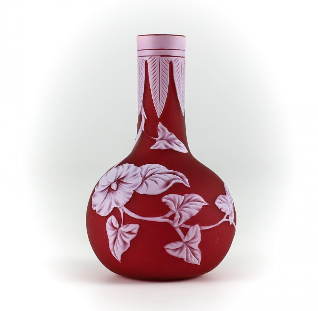 Thomas Webb small red rose bud vase