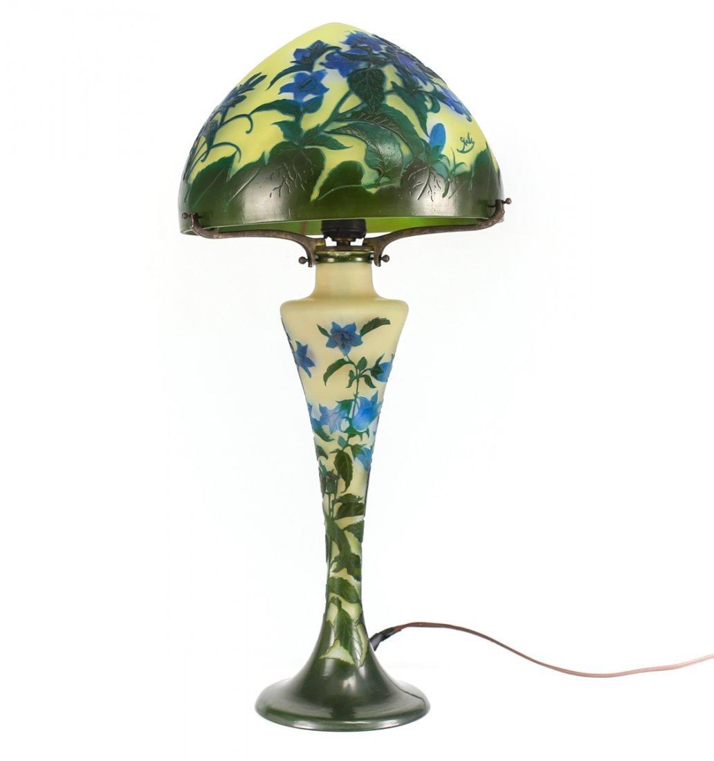 Emile Galle Bellflower Lamp