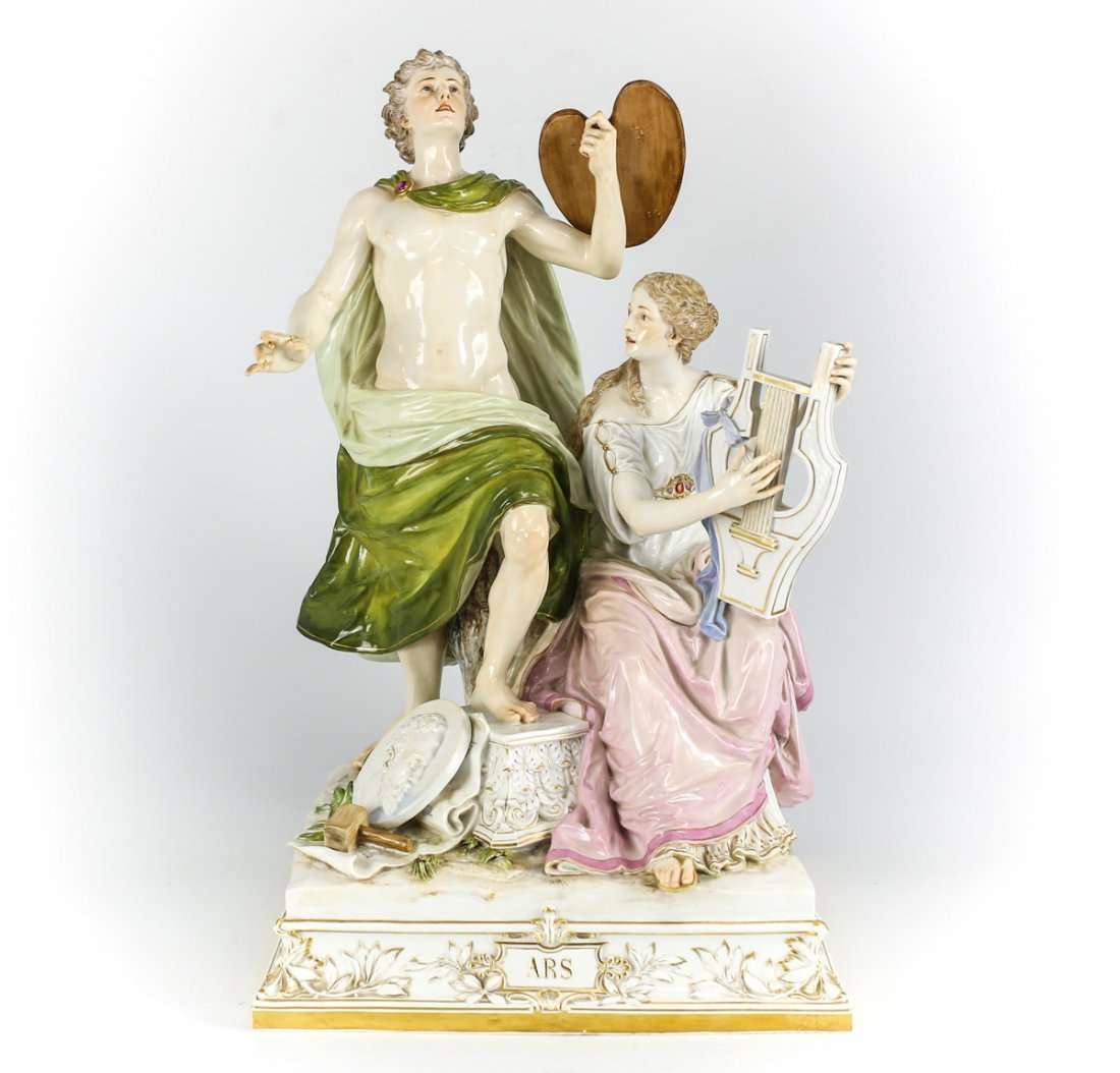 Meissen Figural Group Emblematic of the Arts