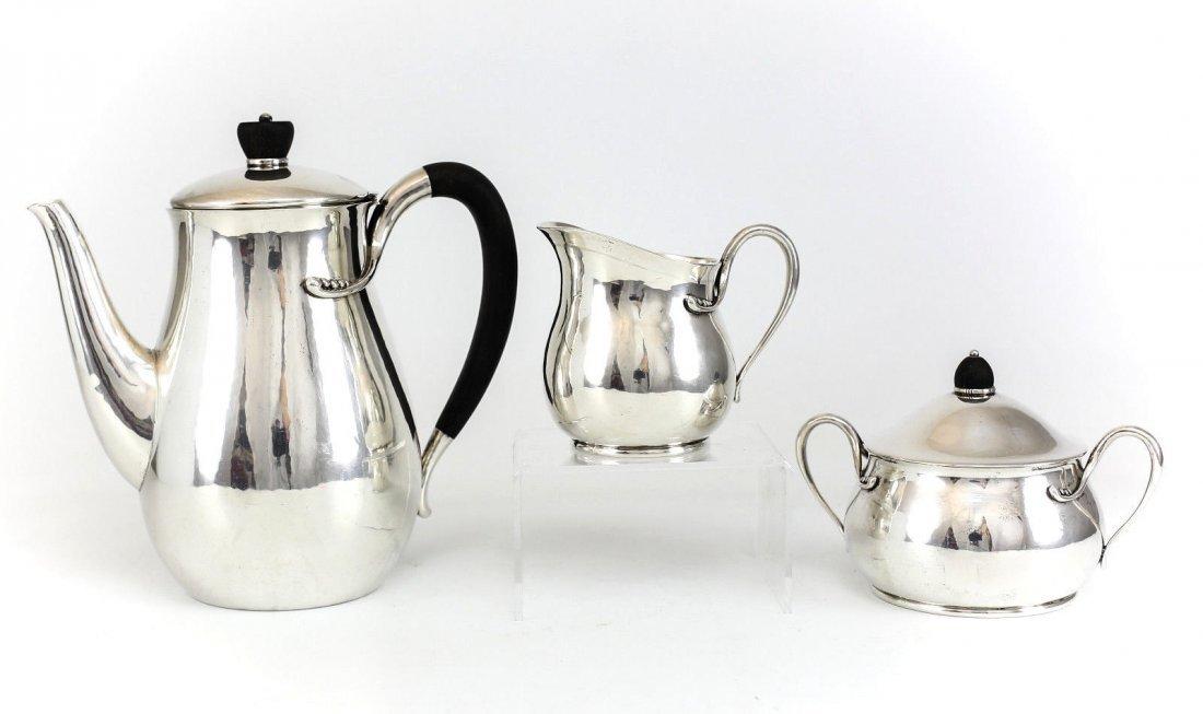 Evald Nielsen Silver Coffee Service Set, Denmark
