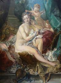 19th Century 'Toilet of Venus' Oil Painting