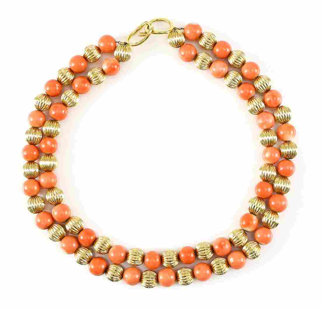 Tiffany & Co Angela Cummings 18k & Coral Necklace