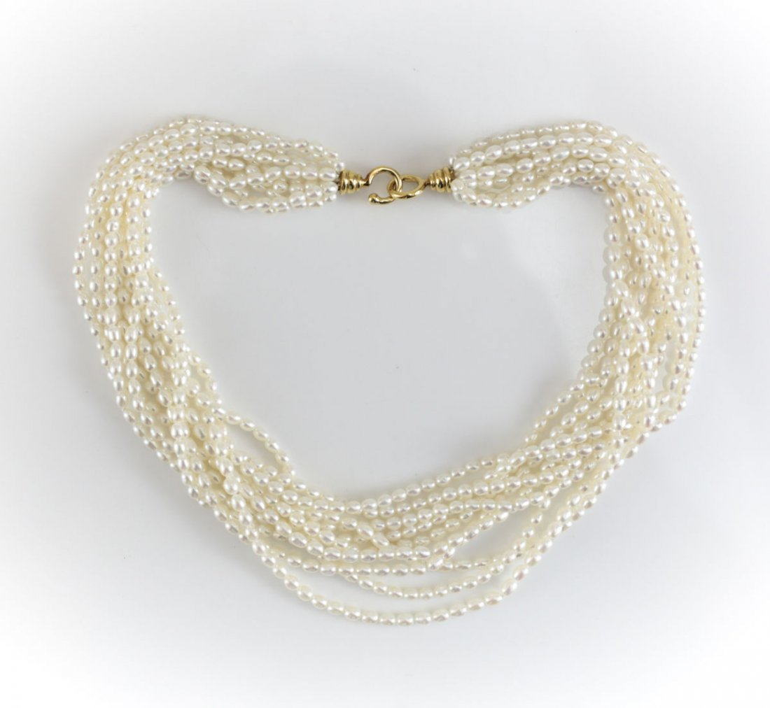 Tiffany & Co Paloma Picasso 18k & Pearl Necklace