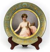 Royal Vienna Porcelain Cabinet Plate of Klotho