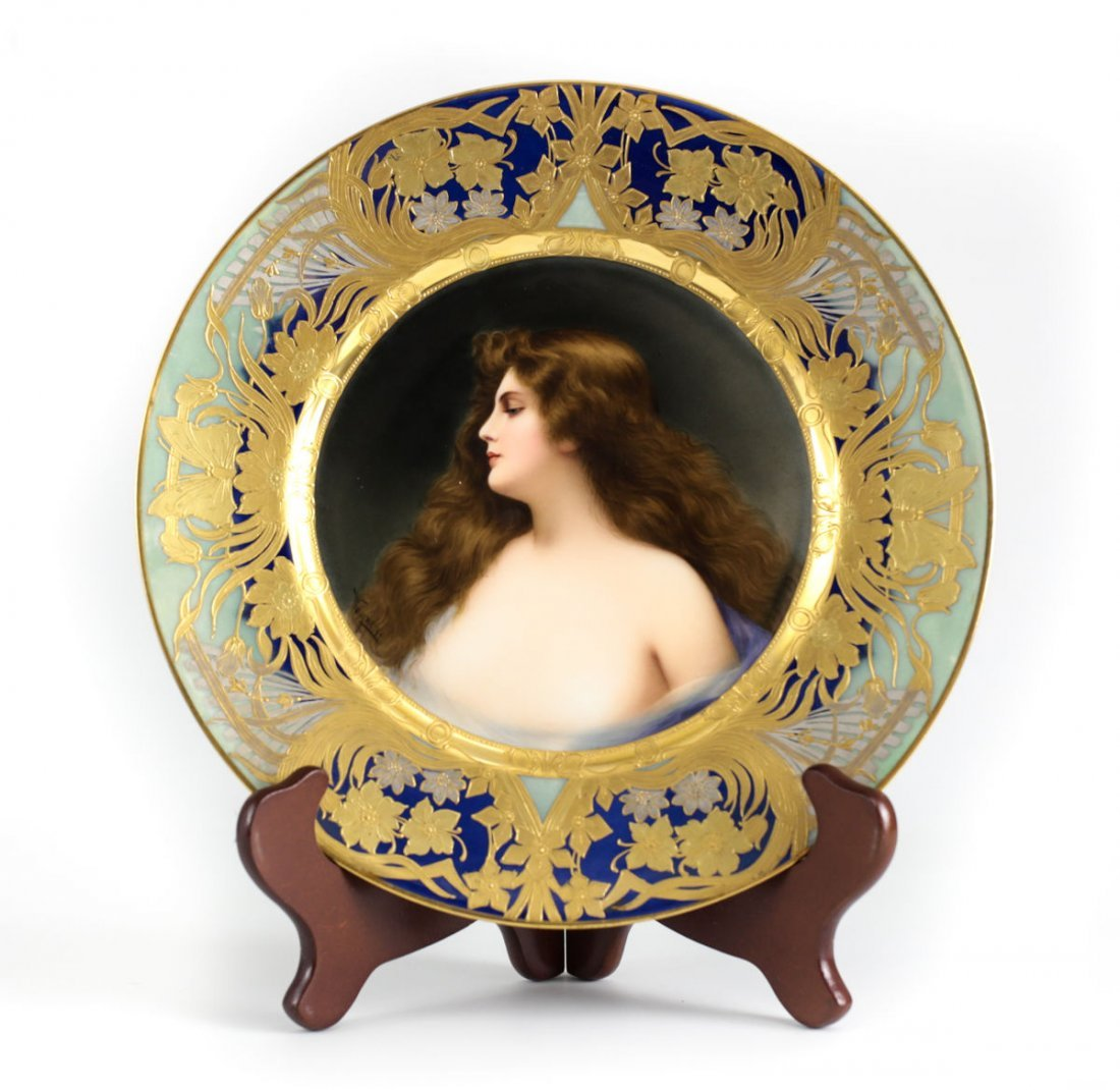 Royal Vienna Porcelain Cabinet Plate, Erbluth