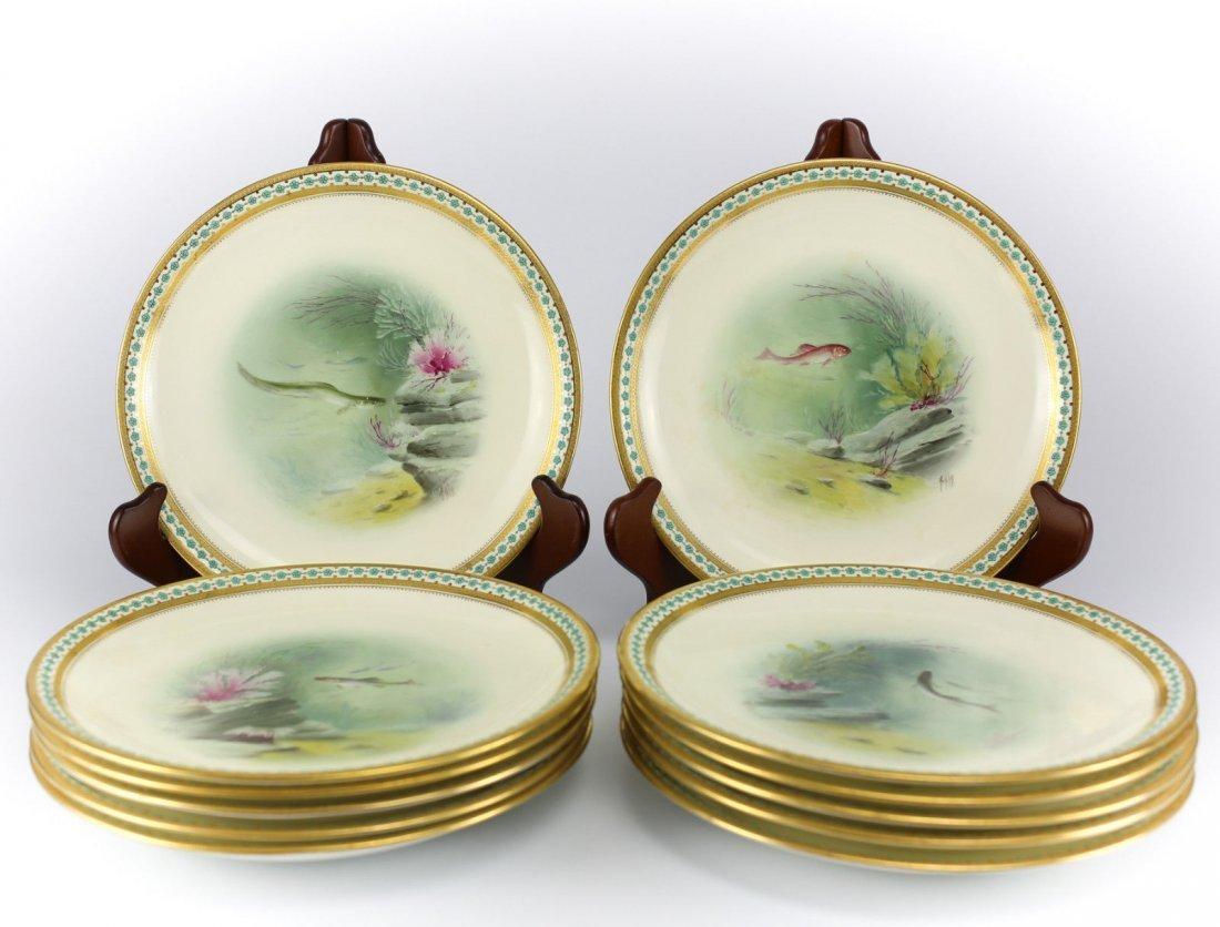 Minton Porcelain Hand Painted Game Plates