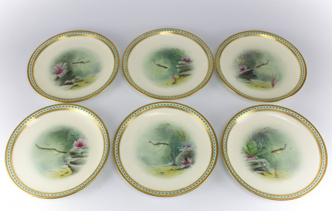 Minton Porcelain Hand Painted Game Plates - 2